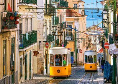 Funicular Tram Chiado, Lisbon, Portugal