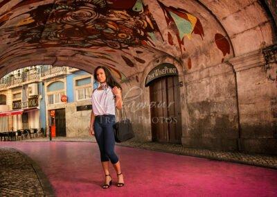 Pink Street, Chiado, Lisbon, Portugal