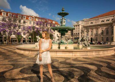 Rossio Square, Baixa, Lisbon, Portugal